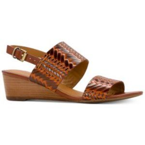 PATRICIA NASH Mirella Leather Wedge Sandals